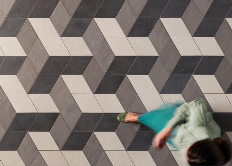 На фотографии пример использования плитки из коллекции Chalk фабрики Marca Corona в дизайне интерьера.