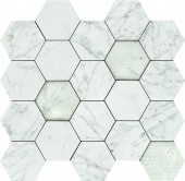 Мозаика 02615 HEX APUANIAN WHITE LEV 34x36